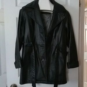 Wilsons Leather jacket with zip in lining